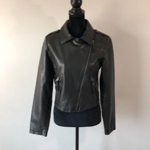 Mossimo faux leather moto jacket (m)